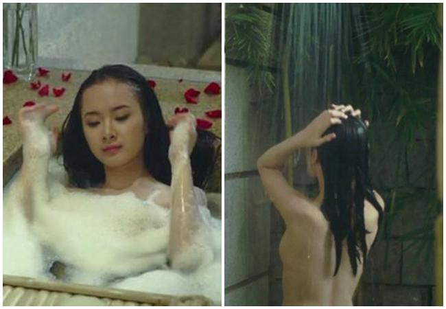 Mỹ nhân 17 tuổi tự tin đóng cảnh tắm nóng bỏng không cần diễn viên đóng thế.