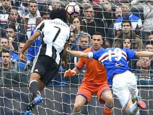 """Sampdoria – Juventus: """"Nổ tung"""" pha đánh đầu phủ đầu - 1"""