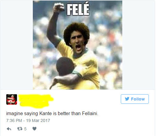 Trăm triệu fan MU mừng rơi nước mắt: Fellaini được so với Pele - 2