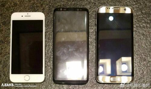 """Ảnh """"nóng"""" Samsung Galaxy S8 đọ dáng iPhone 7 - 1"""