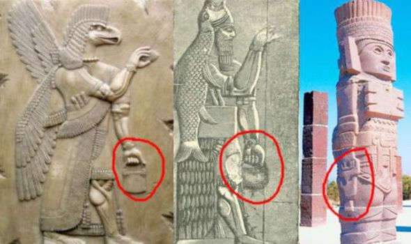 Video: Tượng thần cổ xưa đã biết cầm túi xách hiện đại? - 1