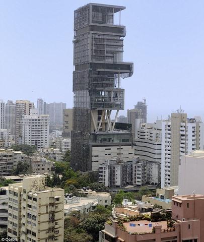 Tỉ phú giàu nhất Ấn Độ đổ 17.000 tỉ xây nhà xa hoa hết cỡ - 3