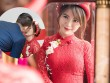 Hot girl MU Tú Linh hôn chồng say đắm trong lễ ăn hỏi