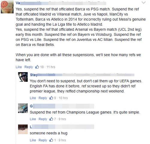 Trọng tài thảm họa trận Barca - PSG: Fan cãi vã kịch liệt vì UEFA - 1
