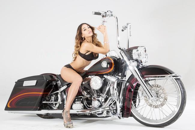 Người đẹp bên chiếc Harley-Davdison Softail Lowrider đời 2008