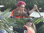 Tronie và Mia lần đầu ngồi thuyền thúng, chặt lá dừa tại Đà Nẵng