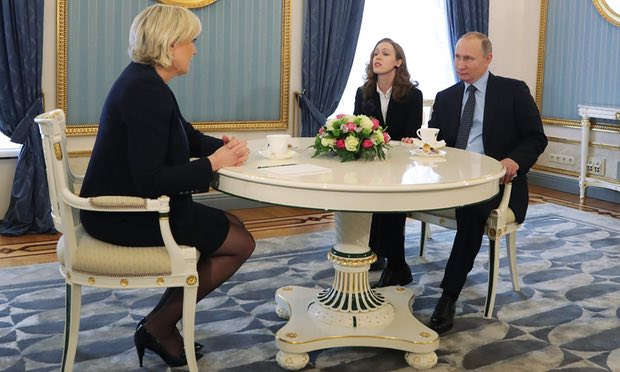 """Putin bất ngờ """"ra mặt"""" đón nữ ứng viên tổng thống Pháp - 2"""