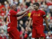 """Bóng đá - Gerrard tỏa sáng, huyền thoại Liverpool """"đè bẹp"""" Real"""