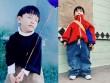 """""""Há hốc"""" trước nhóc 4 tuổi mặc """"xuất thần"""" áo quần của bố"""