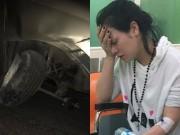 Nhật Kim Anh bị tai nạn, đầu xe hơi bẹp rúm