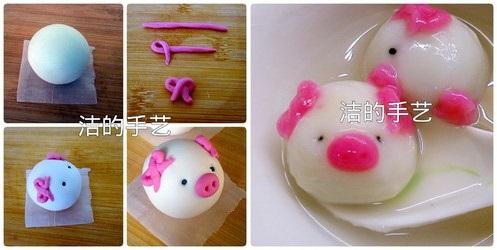 Hô biến bánh trôi thành những con vật dễ thương thật đơn giản - 7