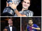Tennis 24/7: Federer thắng ngoạn mục Ronaldo - Messi, hay nhất 2017