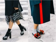 Lạnh tê buốt - Thời điểm chuẩn để diện tất và sandal