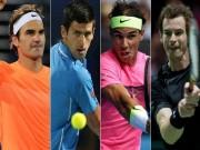 """Bảng xếp hạng tennis 1/1: Sừng sững Nadal, Federer,  """" Big Four """"  khó tái lập"""