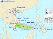 Áp thấp nhiệt đới giật cấp 9 vào Biển Đông, hướng thẳng Nam Bộ