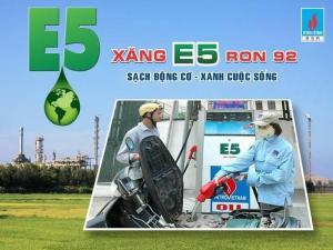 Xăng sinh học E5 RON 92