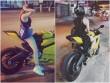 Kiều nữ cưỡi mô tô khủng xứ Huế mê diện quần 5cm xuống phố