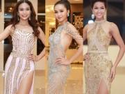 Ứng viên Hoa hậu Hoàn vũ Việt Nam lộng lẫy với đầm dạ hội