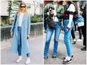 Bí ý tưởng mặc đẹp? Cứ quần jeans + sneaker vẫn nổi