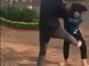 An ninh Xã hội - Hai nhóm thiếu nữ dùng nón bảo hiểm lao vào đánh nhau