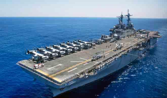 Tàu đổ bộ Mỹ đem tiêm kích tối tân nhất áp sát Triều Tiên - 1