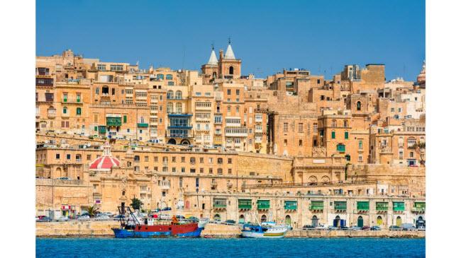 Malta: Hòn đảo nằm giữa Italia và Tunisia là một trung tâm giao thoa văn hóa ở Địa Trung Hải. Thành phố Valletta của Malta được lựa chọn làm thủ đô văn hóa của châu Âu trong năm 2018.