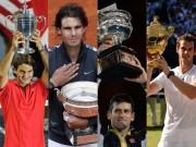 """Bảng xếp hạng tennis 8/1: Federer  """" uy hiếp """"  Nadal, thê thảm Djokovic - Murray"""