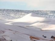 Thế giới - Rét kỷ lục phủ trắng sa mạc Sahara dưới lớp tuyết dày 40cm