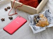 Oppo tung bộ ảnh F5 màu đỏ với màn hình tràn viền cực ấn tượng
