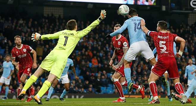 """Man City - Bristol City: Lao lực với """"ngựa ô"""", định đoạt phút bù giờ - 2"""