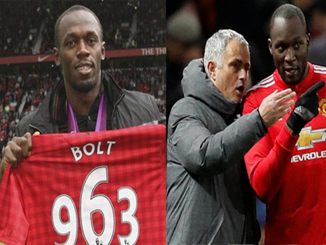 Usain Bolt mới đá bóng đã ra oai: Chê MU - Mourinho, khinh Lukaku