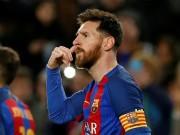 """Bàn thắng đẹp V18 Liga: Messi  """" nổ """"  siêu phẩm chào Coutinho"""