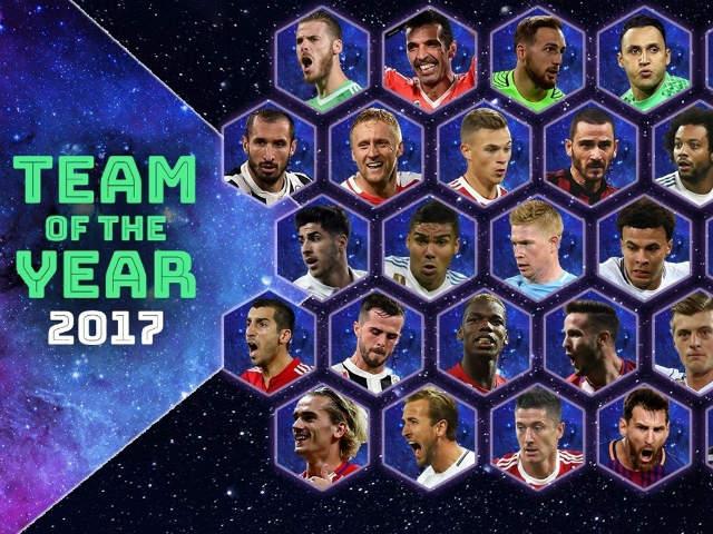 Đội hình hay nhất 2017: Real-Ronaldo thống trị, bất ngờ Neymar-Kane