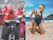 Người ta quấn chăn đi làm vì rét, con nhà giàu vẫn diện bikini tắm biển