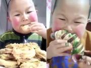 """Cậu bé mập  """" ăn cả thế giới """"  khiến ai cũng hết hồn"""