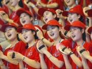 """Ngắm  đội quân """"  toàn mỹ nữ của Triều Tiên đi cổ vũ ở nước ngoài"""