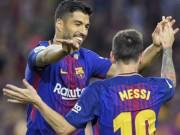 """Messi, Suarez hù dọa bom tấn: 31 phút ghi 4 bàn, Coutinho  """" tái mặt """""""