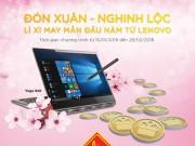 Đón xuân năm mới với lì xì  khủng  từ Lenovo