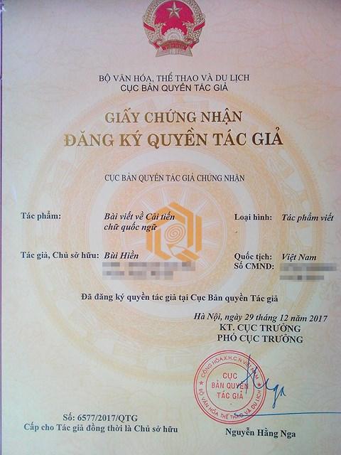 """PGS Bùi Hiền đăng ký bản quyền cải tiến """"Tiếw Việt"""": Không vì sợ ai đó chiếm hữu - 1"""