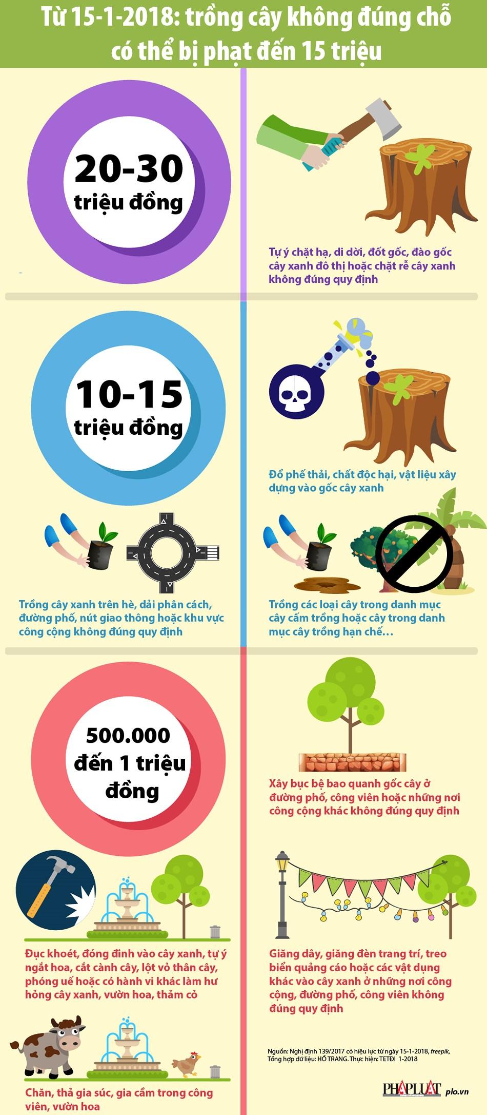Từ 15-1: Trồng cây sai chỗ có thể bị phạt đến 15 triệu - 1