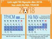 Lịch nghỉ Tết Nguyên đán 2018 - học sinh Hà Nội, TP.HCM