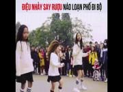 3 cô bé với điệu nhảy say rượu xôn xao phố đi bộ Hà Nội