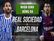 """Sociedad - Barcelona: Vượt hiểm địa Anoeta, cho Real  """" hít khói """""""