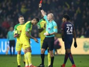 Trọng tài đạp cầu thủ, rút thẻ đỏ:  Băng đảng  PSG - Neymar chi phối?