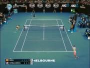 """Kiệt tác Australian Open: Nadal xé gió bẻ bóng  """" góc chết """" , đối thủ nằm sân"""