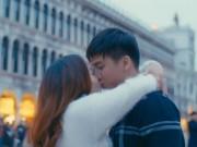 Tình trẻ thấy bình yên khi hôn Ngọc Anh ở Venice