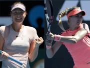 """Đọ sắc Australian Open: Sharapova, Bouchard  """" xách dép """"  2 thiếu nữ  """" trăng tròn """""""