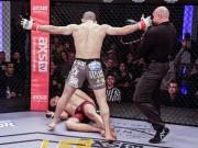 """MMA độc nhất: Ăn đòn tối mặt vẫn  """" sĩ """"  dính thêm cú tát  """" ngủ luôn """""""