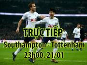 """TRỰC TIẾP bóng đá Southampton - Tottenham:  """" Gà trống """"  bay cao cùng Kane"""