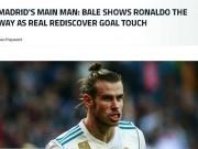 """Real thắng đậm, báo giới nói Bale """"dạy"""" Ronaldo cách ghi bàn"""
